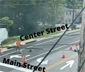New Left and Right turn lanes on Center Street