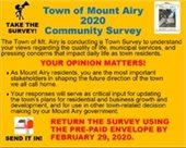 Town of Mount Airy 2020 Community Survey
