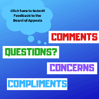 Board of Appeals Feedback