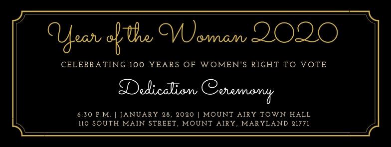 Year of the Woman 2020 Dedication Ceremony
