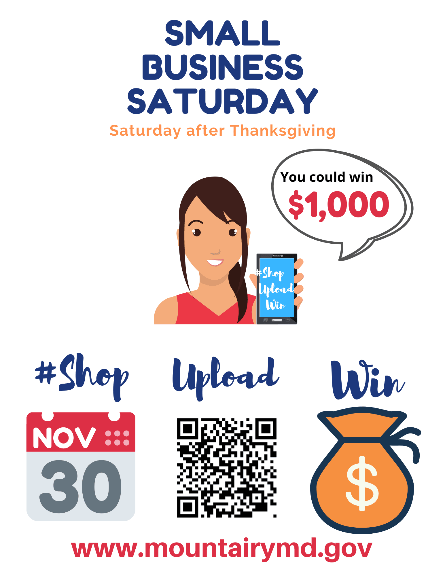 Small business Saturday 4-up white background